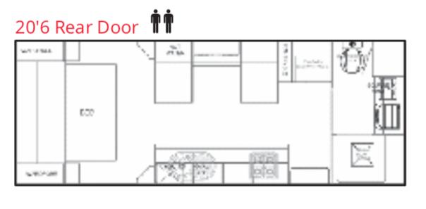 Goodlife RV - Caravan Layouts - 20'6 Rear Door