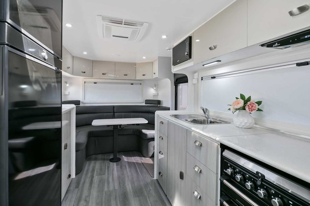 Goodlife RV Caravan Inside Lounge View
