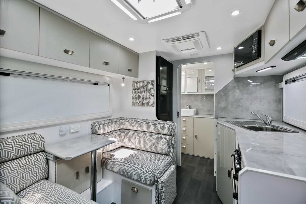 Interior Lounge and kitchen - Goodlife RV